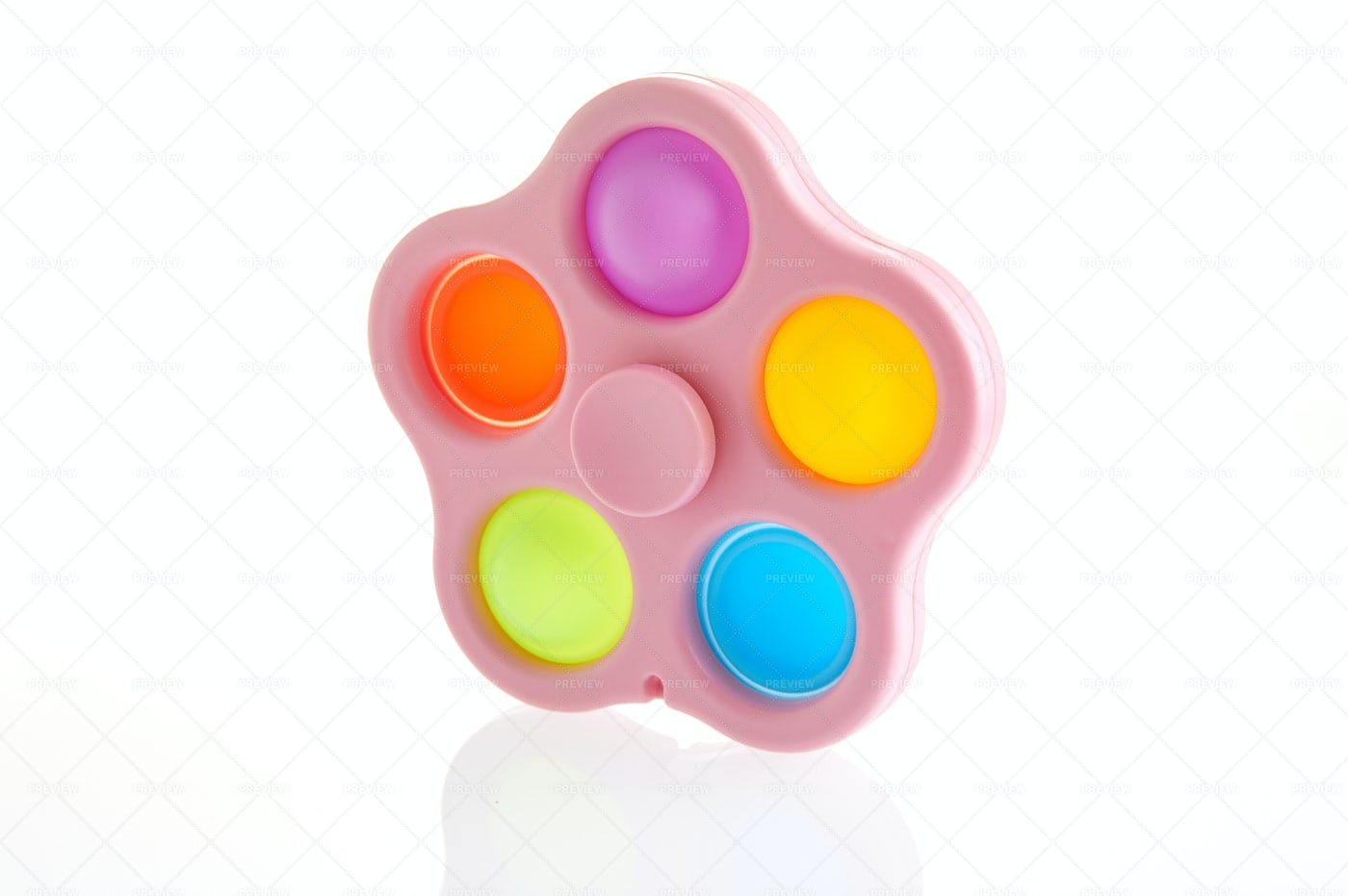 Colorful Spinner And Push Pop: Stock Photos