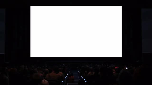 People Watching Movie In Theatre : Stock Video