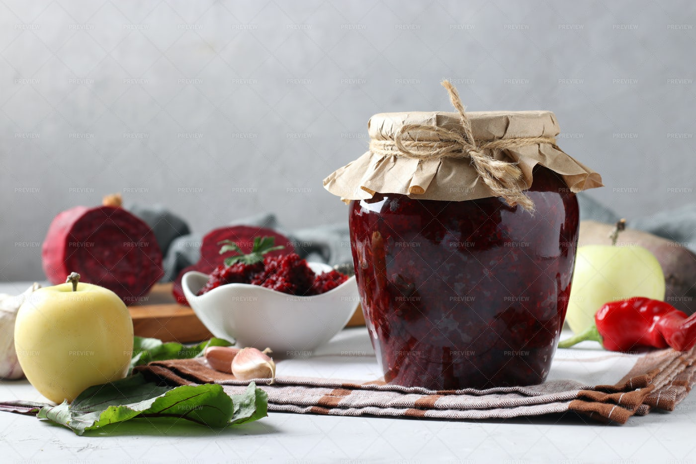 Caviar From Beets And Apples: Stock Photos