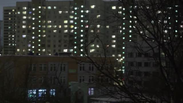 Time Lapse Of Apartment Block: Stock Video