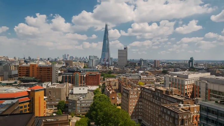 Telephoto Shot Of The Shard In London: Stock Video