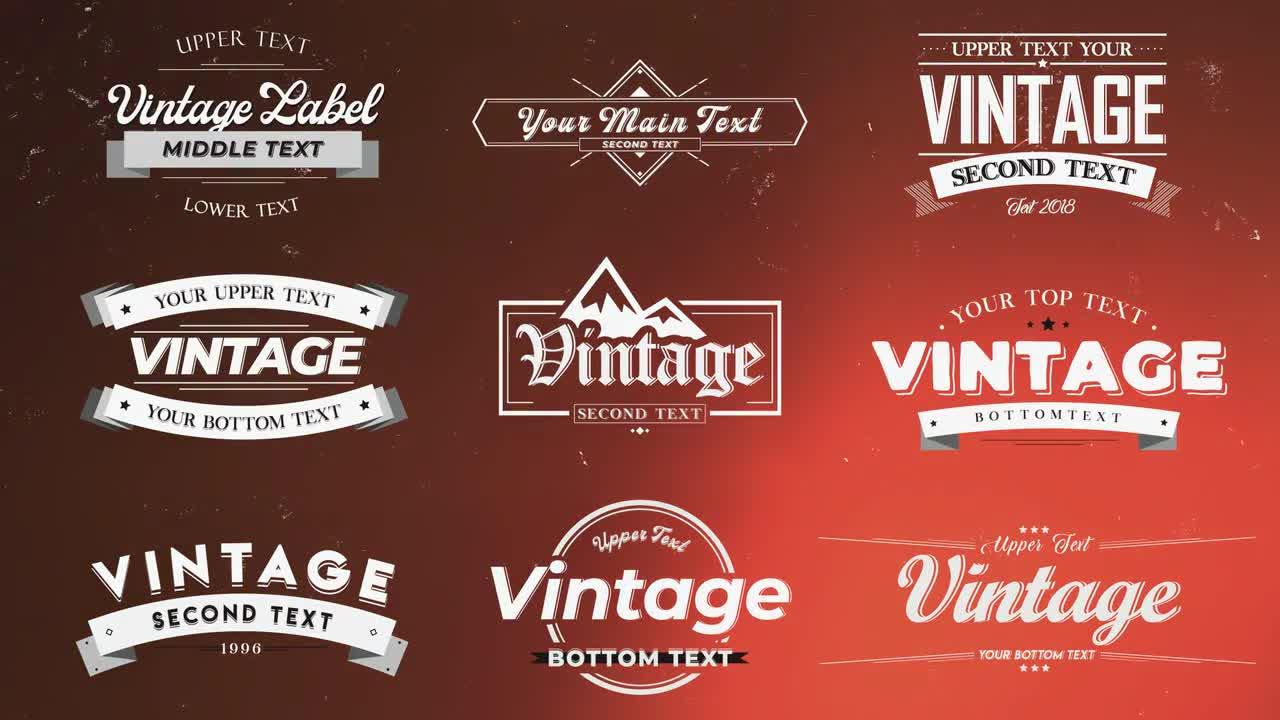 Vintage Labels 98863