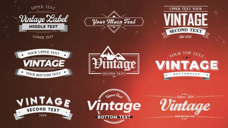 Vintage Labels: After Effects Templates