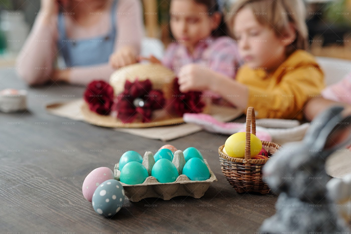 Painted Eggs For Easter: Stock Photos