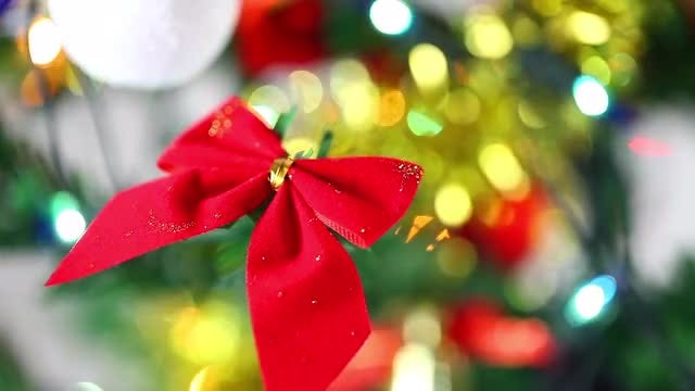 Video Pack Of Christmas Tree Decorations: Stock Video