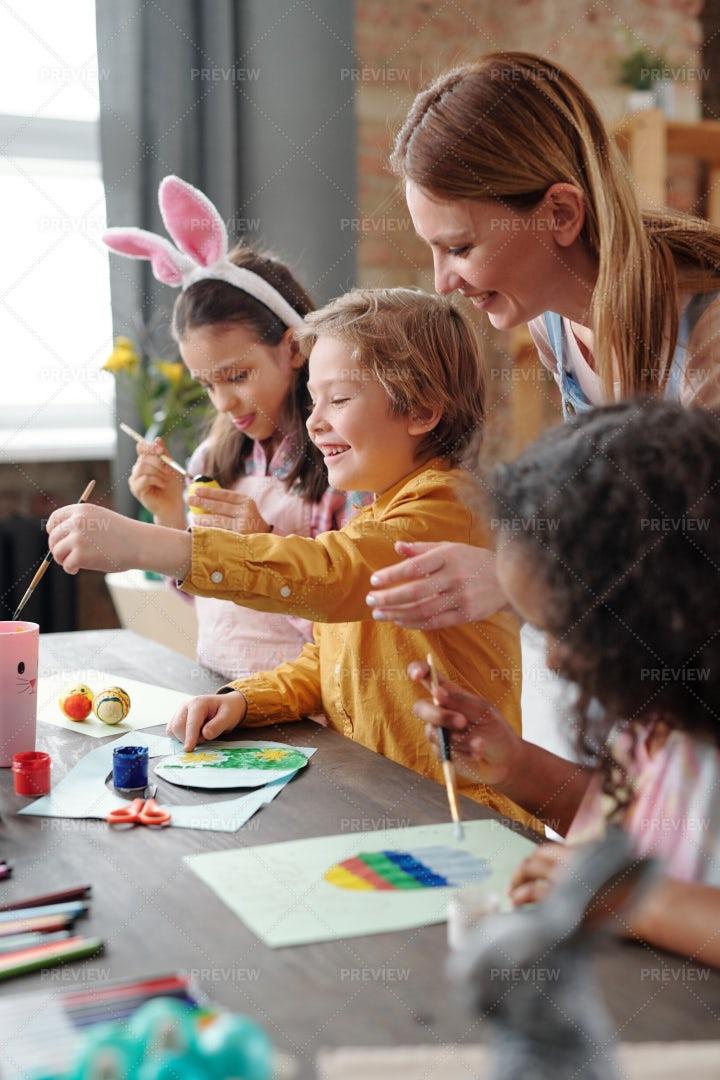 Art Class For Kids: Stock Photos