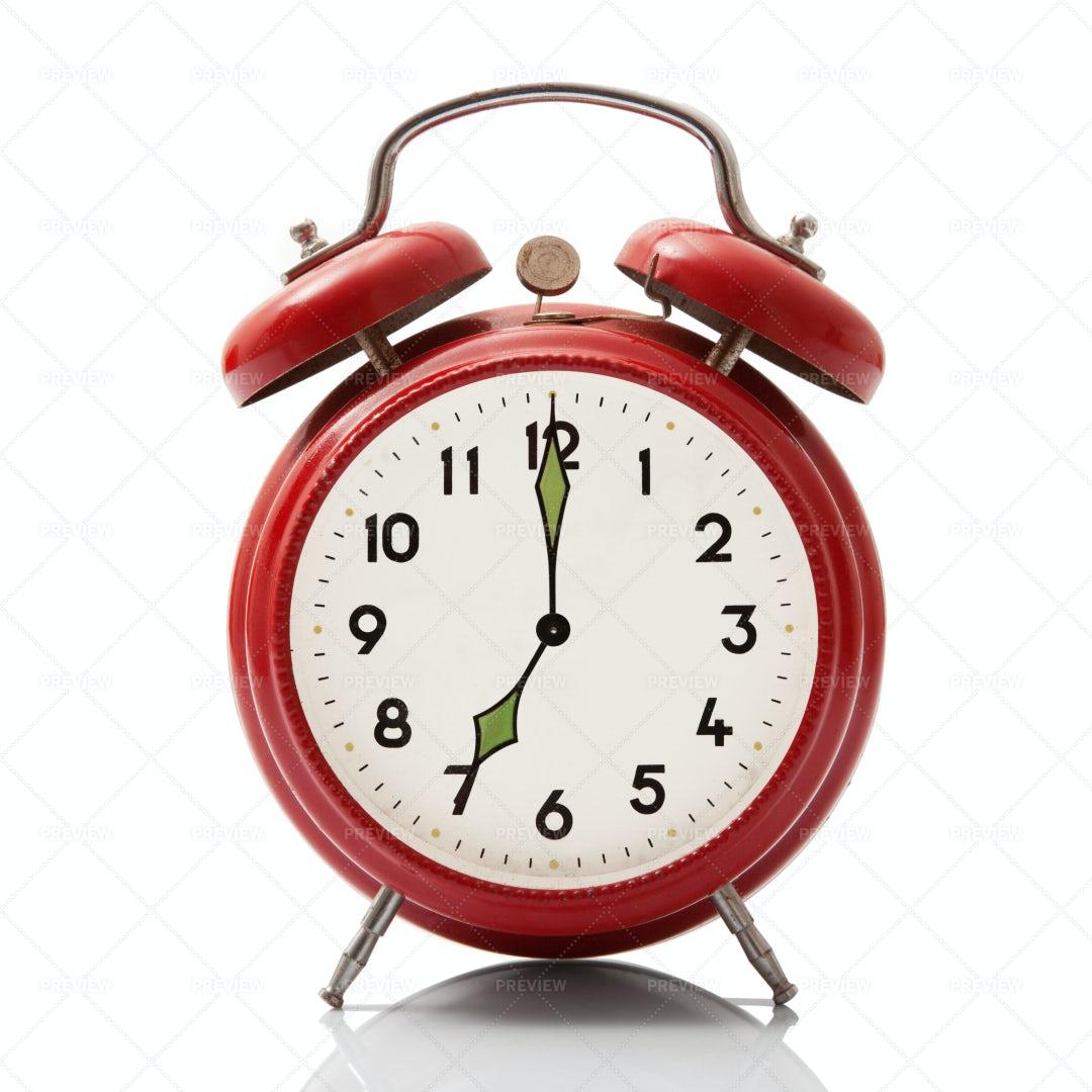 Alarm Clock At Seven Hour: Stock Photos