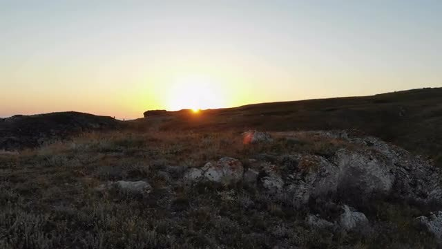 Sunrise Over The Cliff: Stock Video