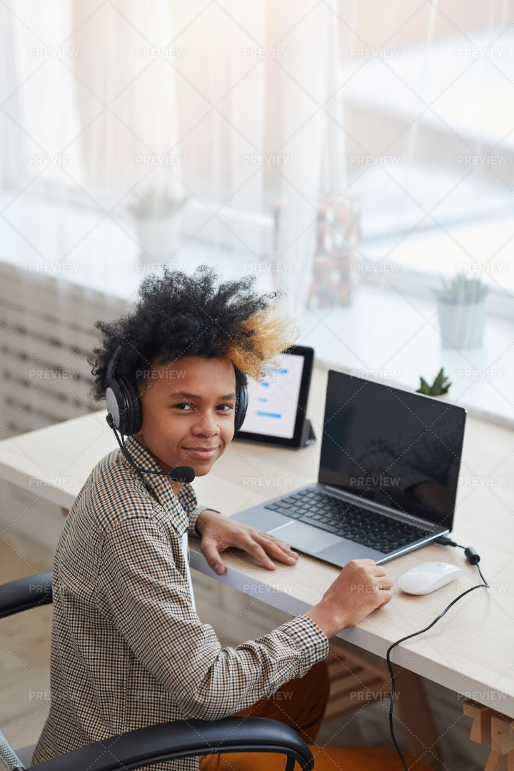 Teenager Playing Video Games: Stock Photos