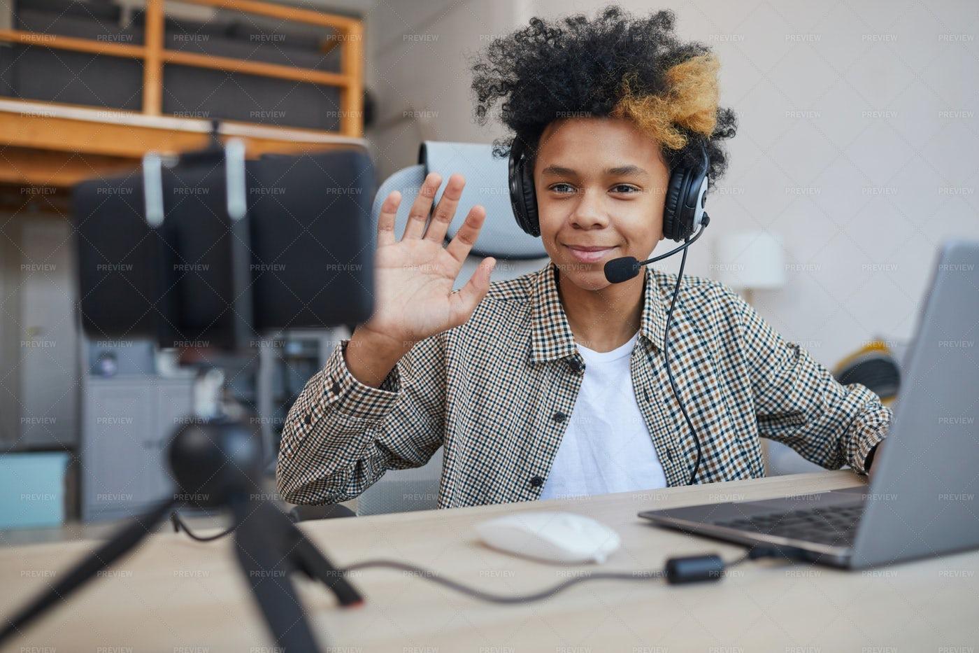 Young Videoblogger: Stock Photos