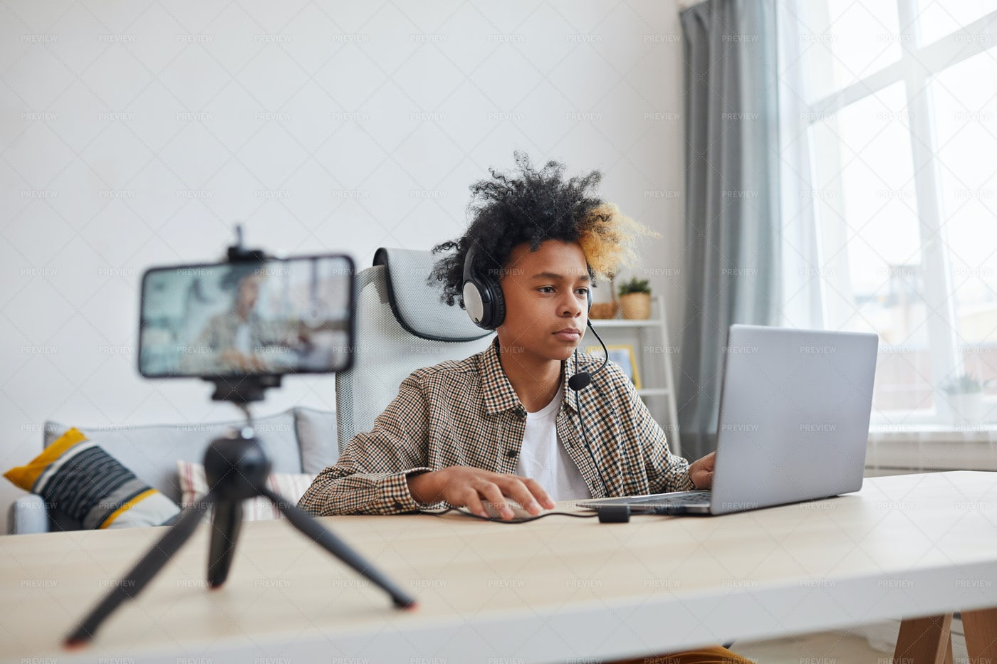 Young African-American Gamer: Stock Photos