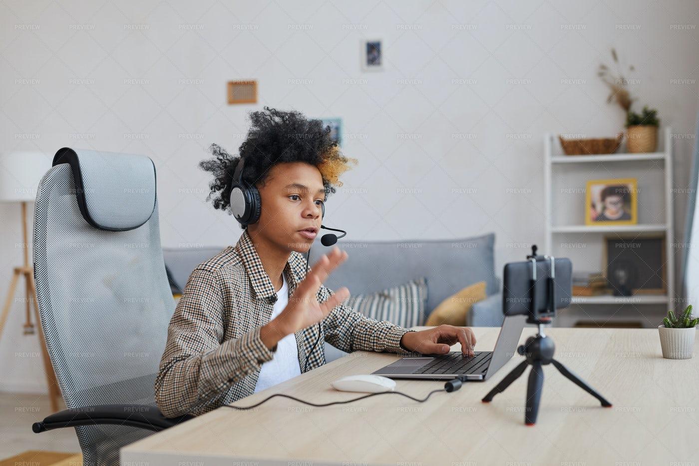 Young Video Blogger: Stock Photos