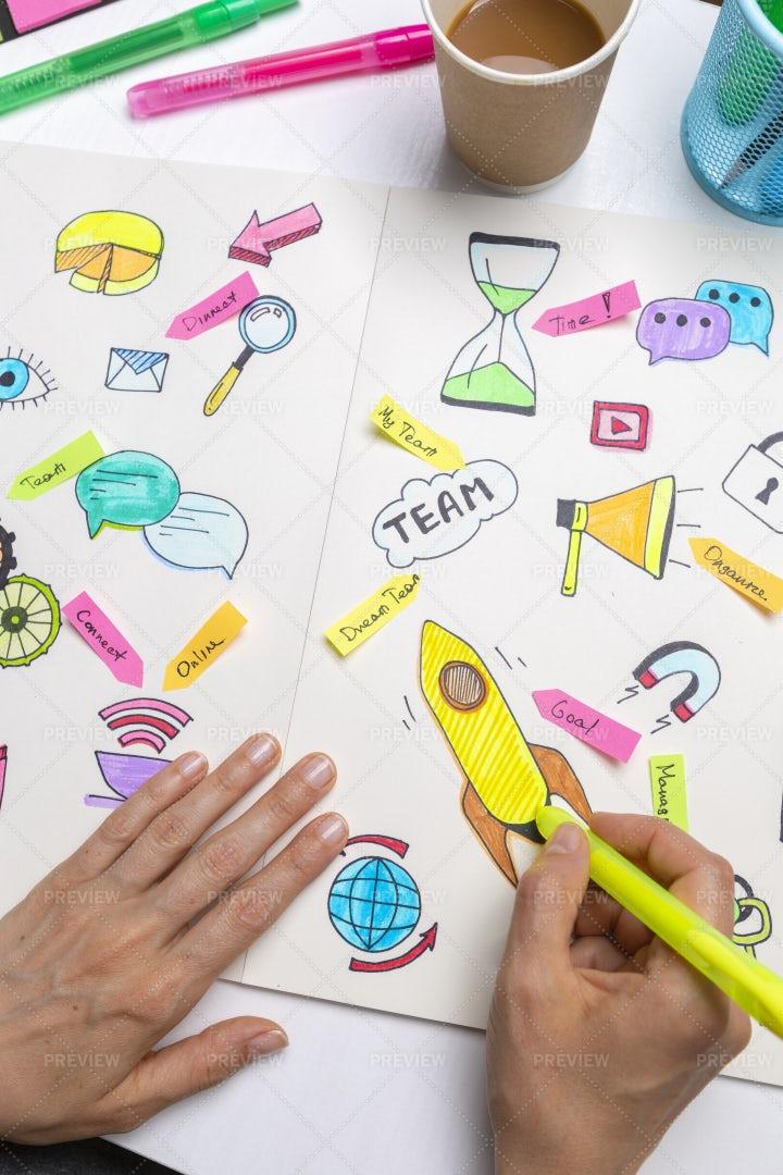 Digital Marketing Business Planning: Stock Photos