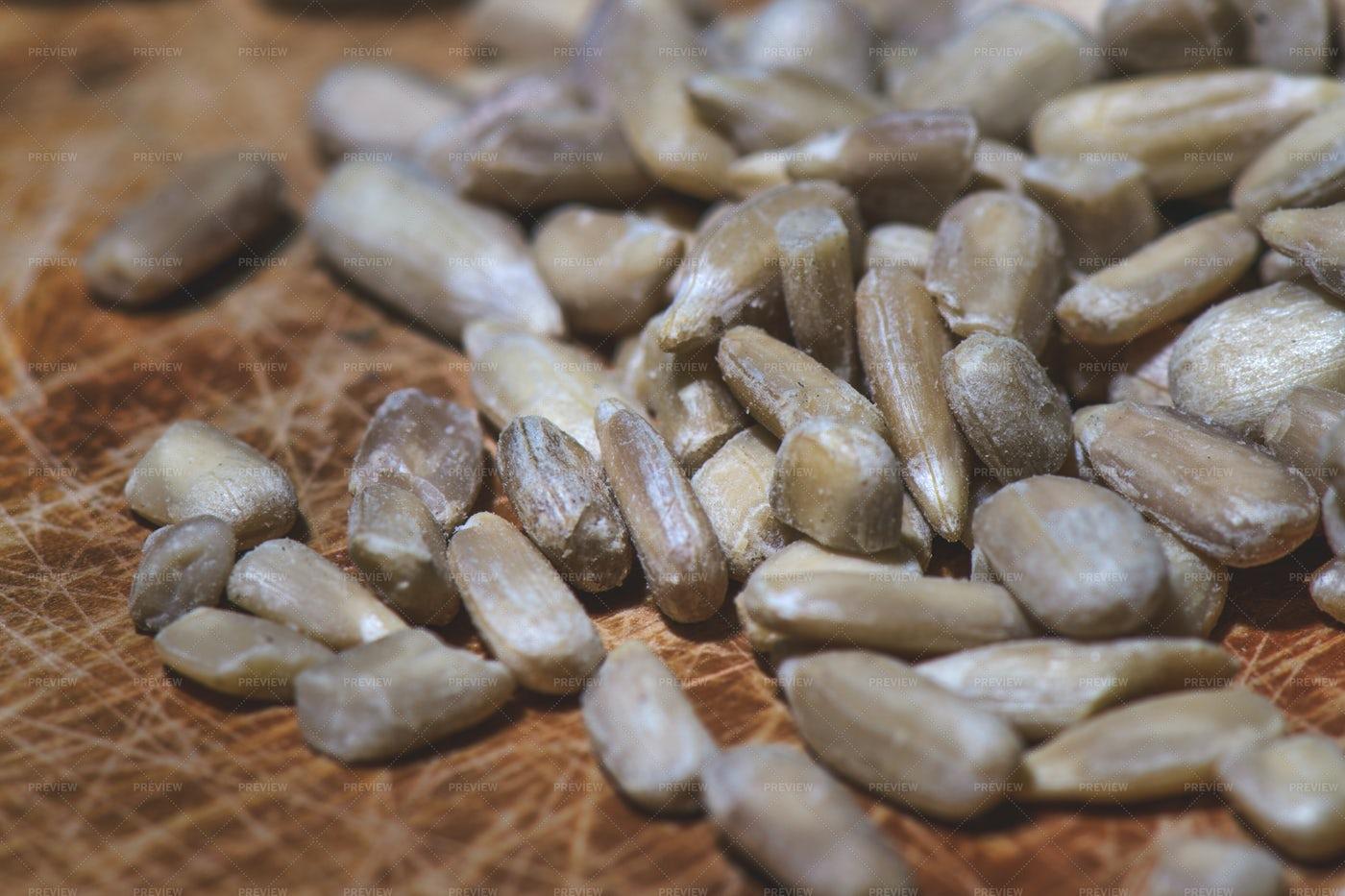 Some Sunflower Seeds: Stock Photos