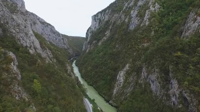 Aerial View Of Vrbas River: Stock Video