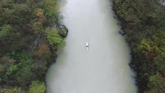 Kayak On The Vrbas River: Stock Video
