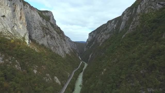 Aerial Shot Of Vrbas river: Stock Video