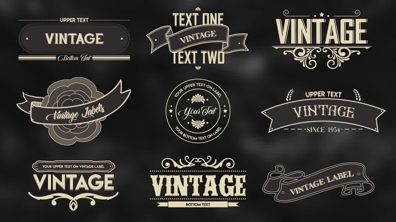 Vintage Labels 2 98935