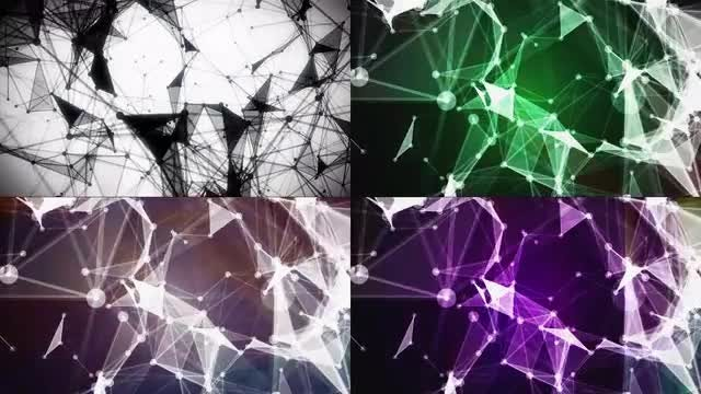 Crystal Plexus Backgrounds Pack: Stock Motion Graphics
