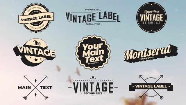 Vintage Labels 3: After Effects Templates