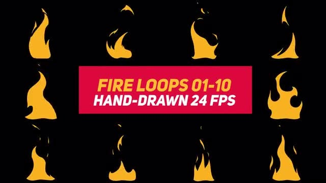 Liquid Elements 3 Fire Loops 01-10: Stock Motion Graphics