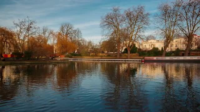 Beautiful Little Venice In London: Stock Video