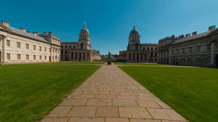 Royal Naval College, Greenwich, London, UK: Stock Video