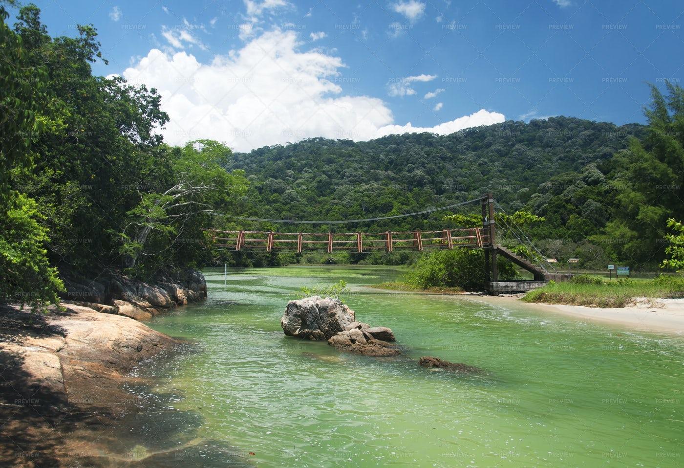 Penang National Park Bridge Malaysia: Stock Photos