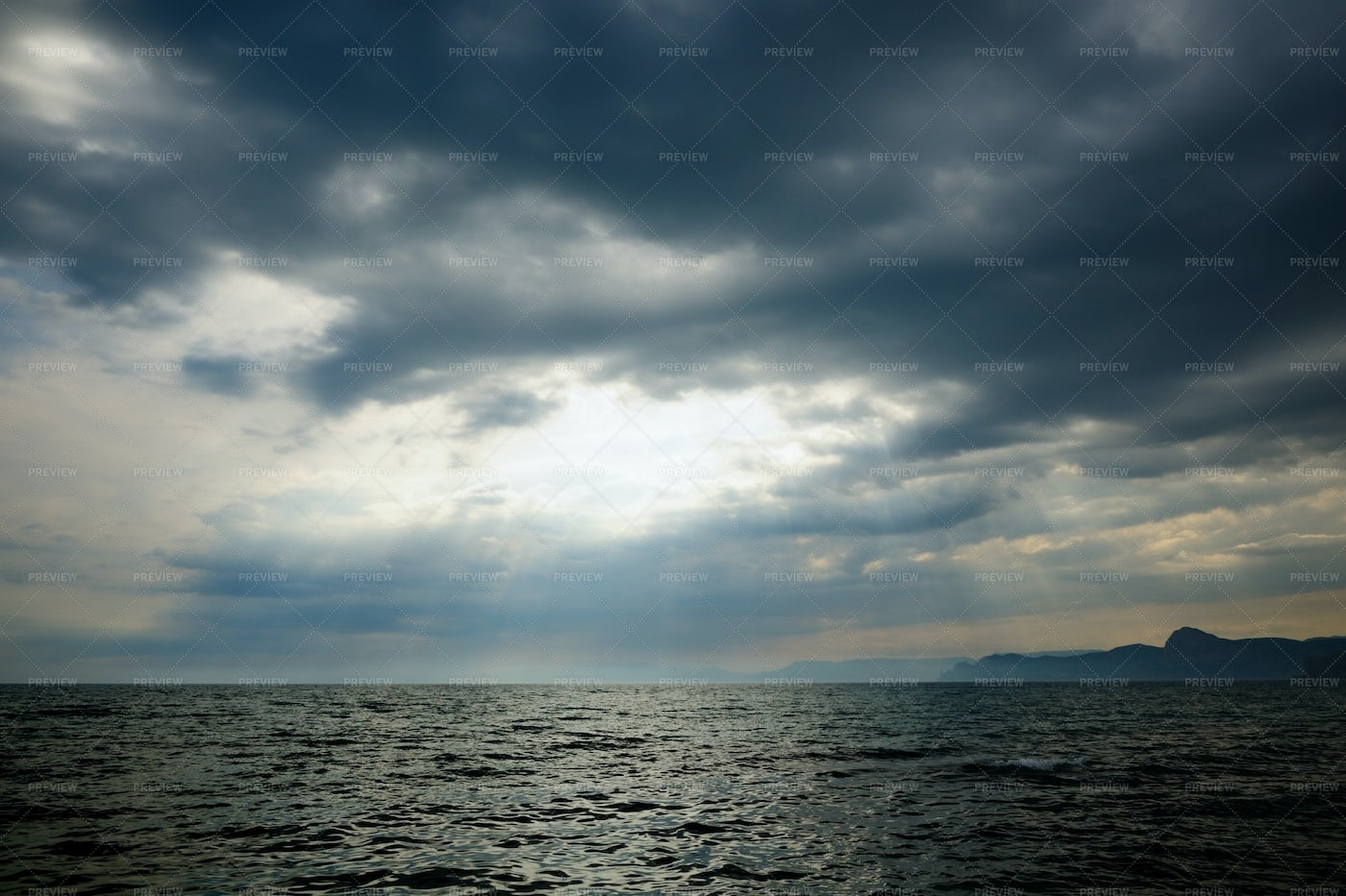 Stormy Sea With Clouds: Stock Photos