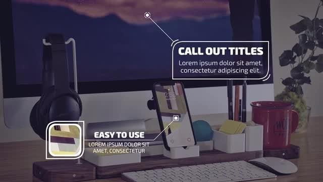 Callout Titles 4k: Premiere Pro Templates