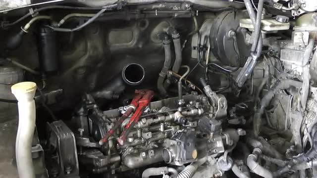 Engine Section View Of A Car: Stock Video