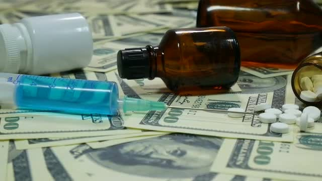 Medication And Money : Stock Video
