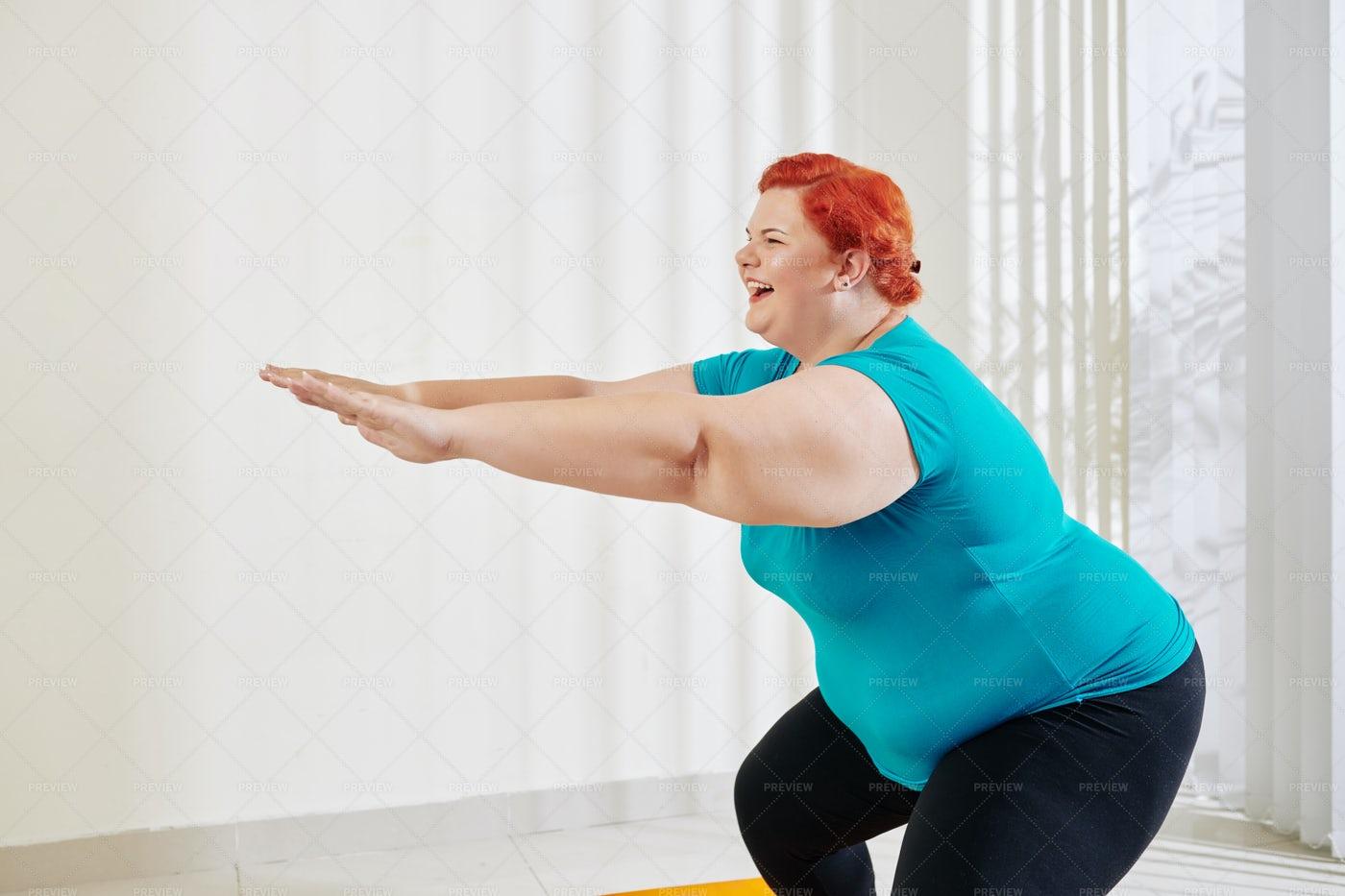 Woman Training Her Legs: Stock Photos