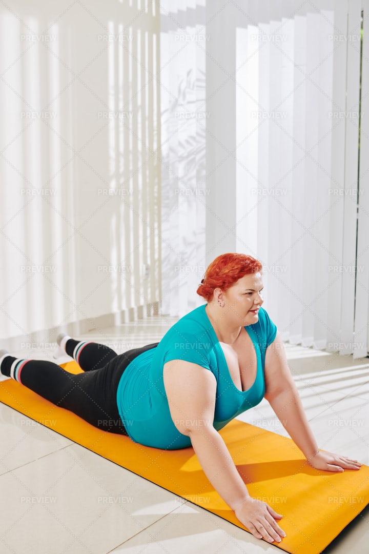 Woman Practicing Yoga: Stock Photos