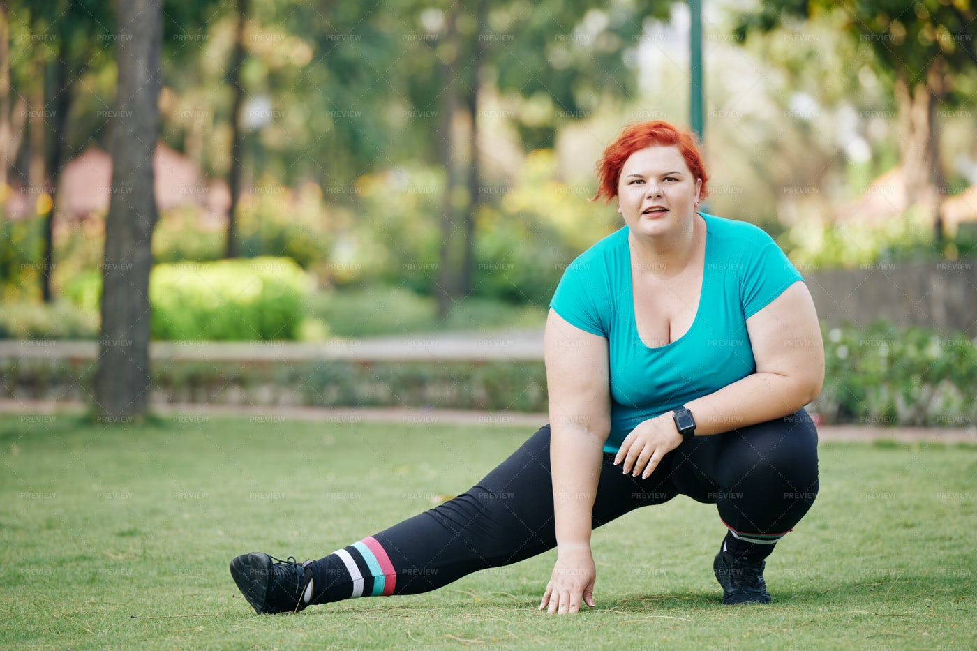 Woman Stretching Her Legs: Stock Photos