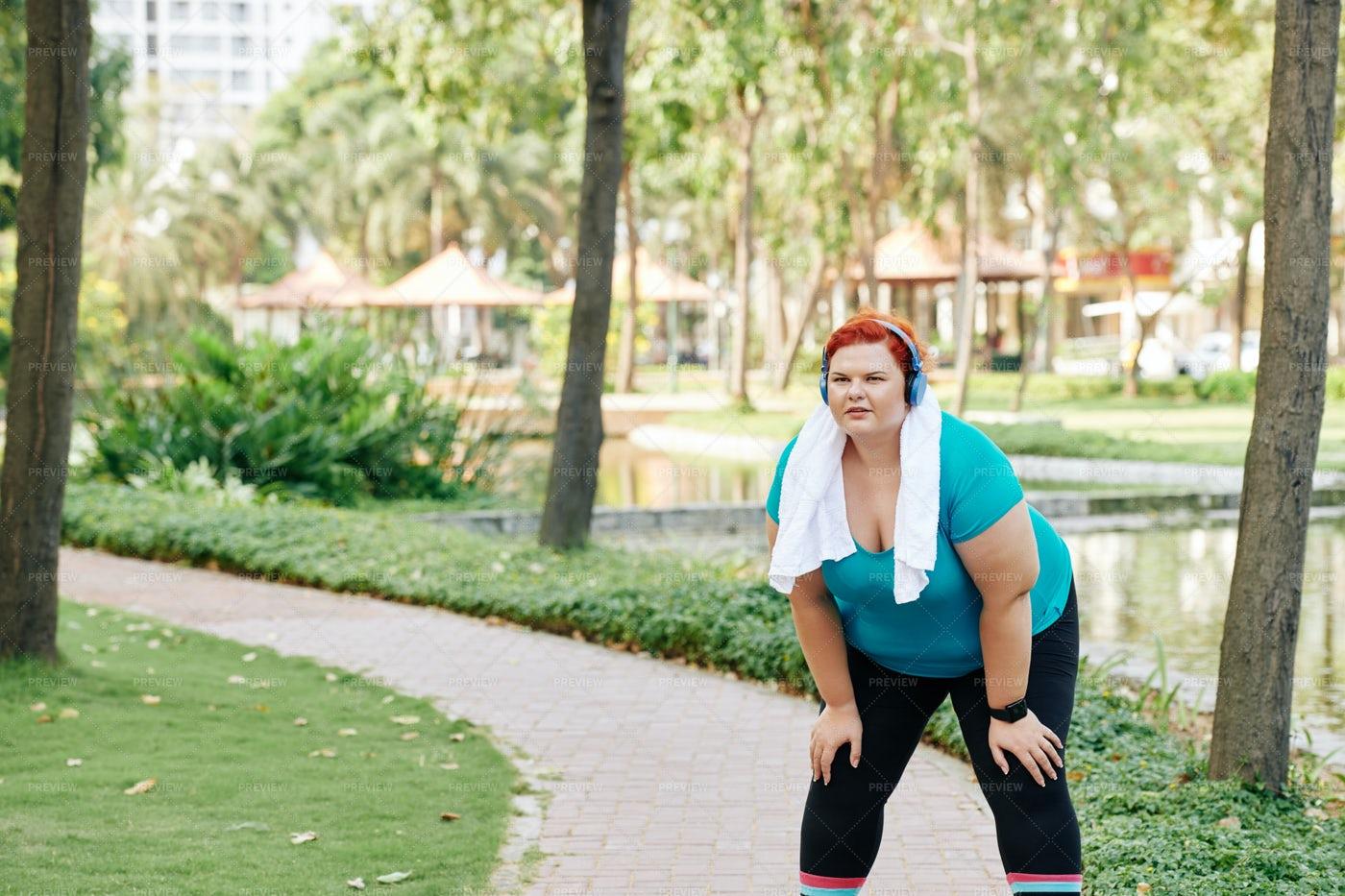 Having A Break After Jogging: Stock Photos