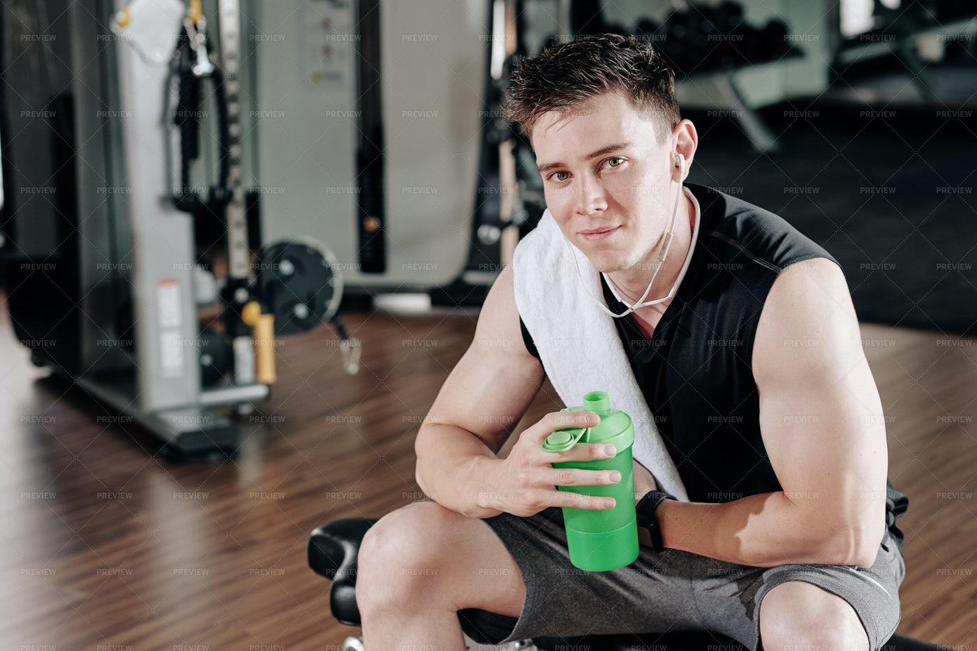 Sportsman Drinking Water: Stock Photos