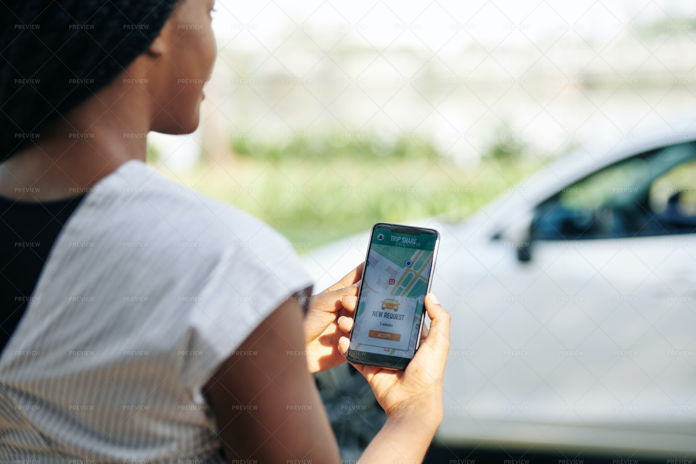 Car Sharing Application: Stock Photos