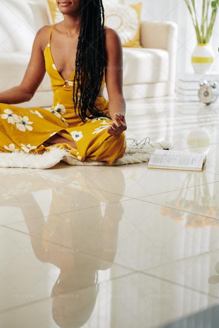 Meditating Young Woman: Stock Photos