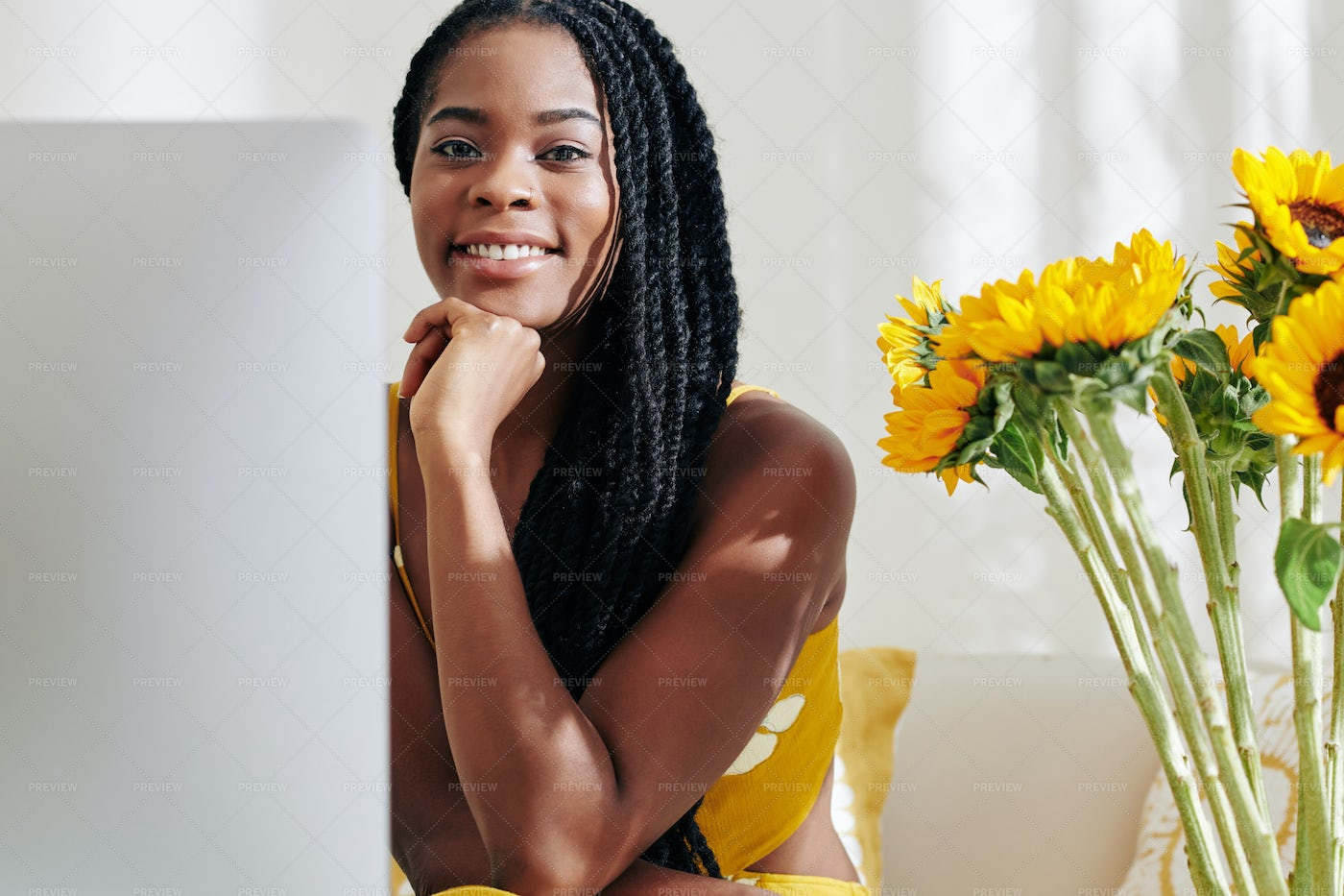 Woman In Front Of Computer: Stock Photos