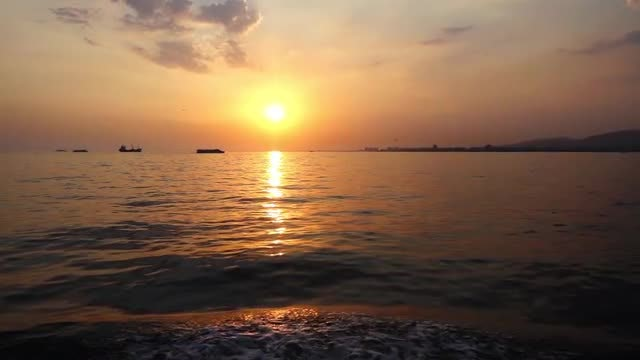 Beautiful View Of Sea Sunset: Stock Video