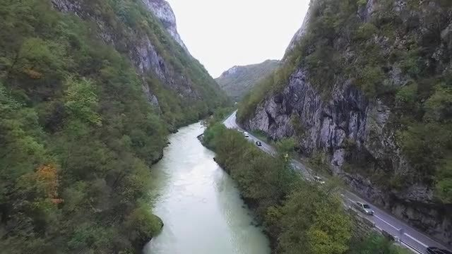 Aerial View Of Beautiful Valley: Stock Video