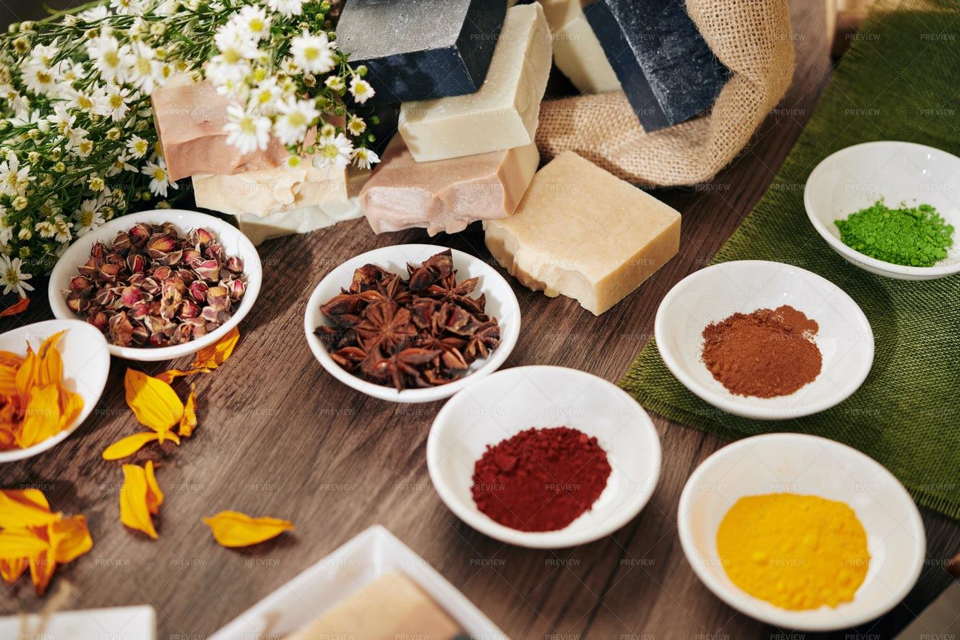 Handmade Soap Ingredients: Stock Photos