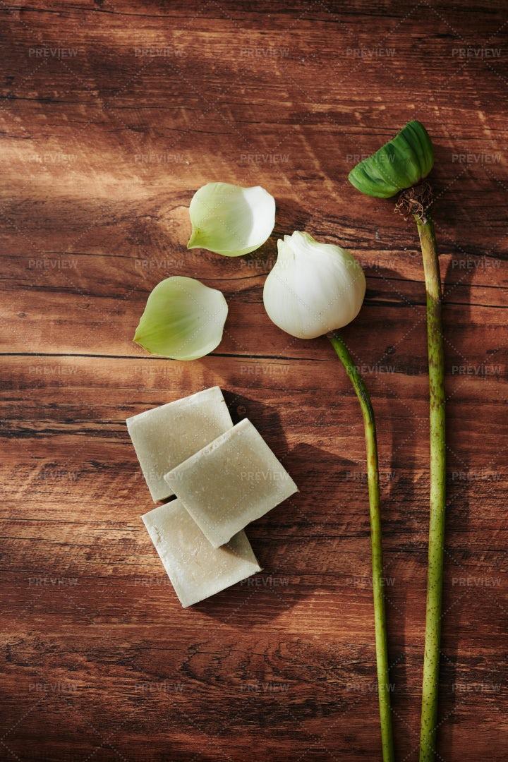 Lotus Handmade Soap: Stock Photos