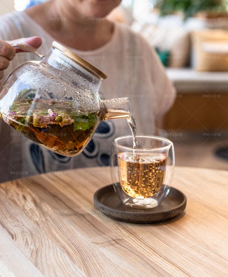 Process Of Brewing Tea: Stock Photos