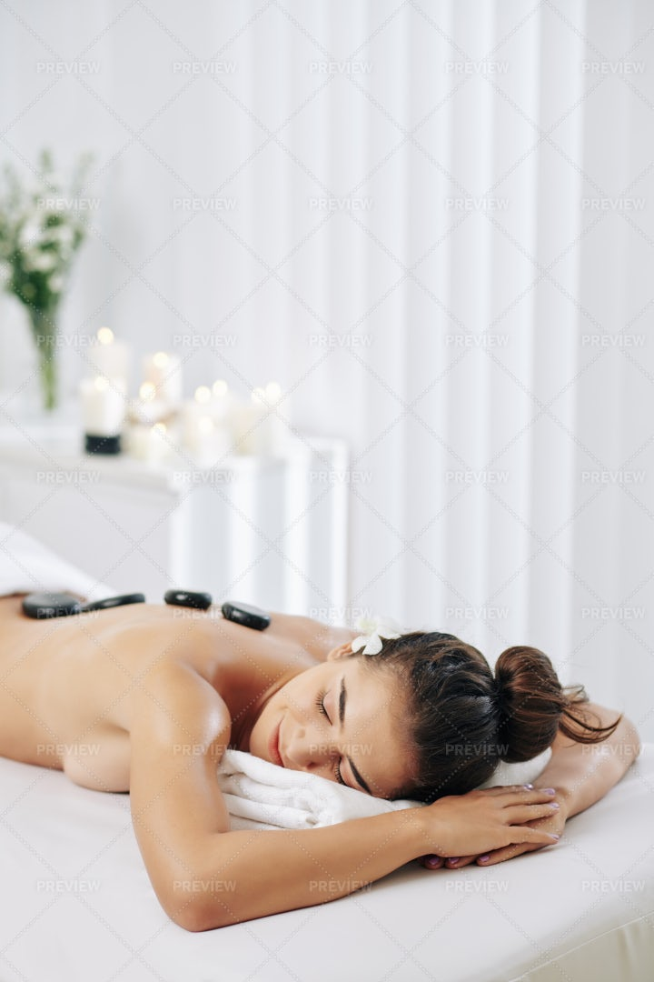 Hot Stones Massage Therapy: Stock Photos