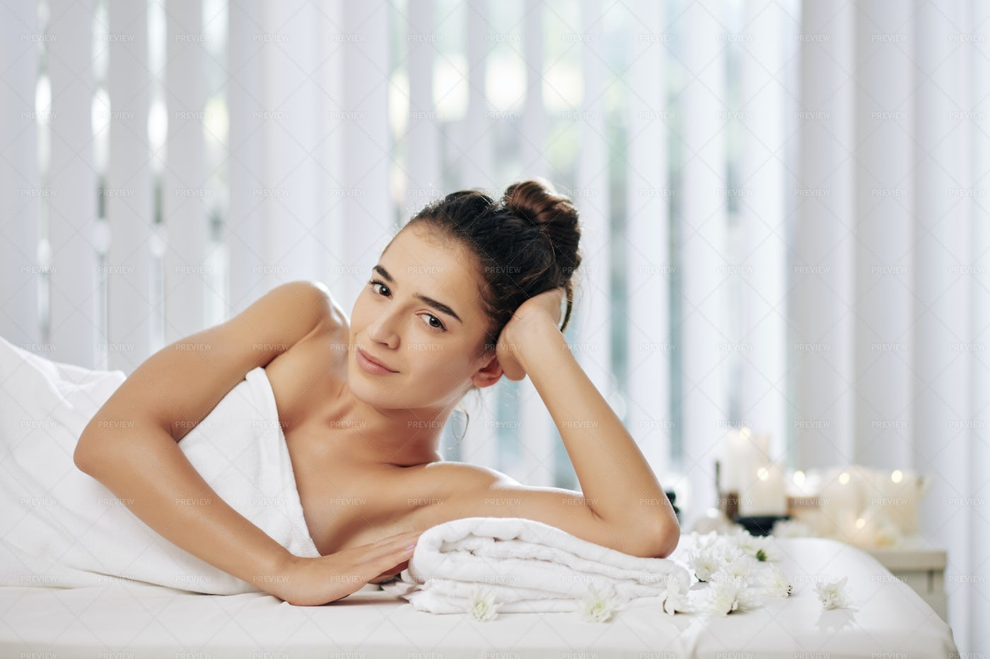 Resting After Body Massage: Stock Photos