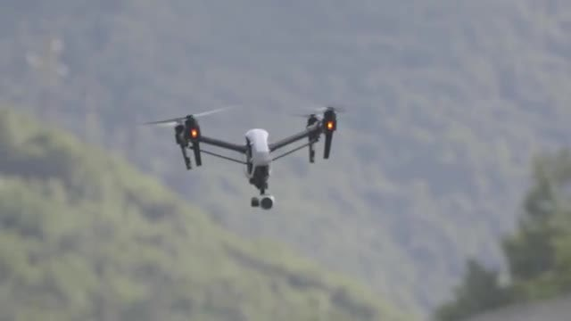 Camera Drone Flying Over Forest: Stock Video