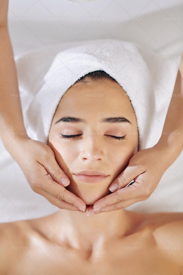 Rejuvenating Face Treatment: Stock Photos