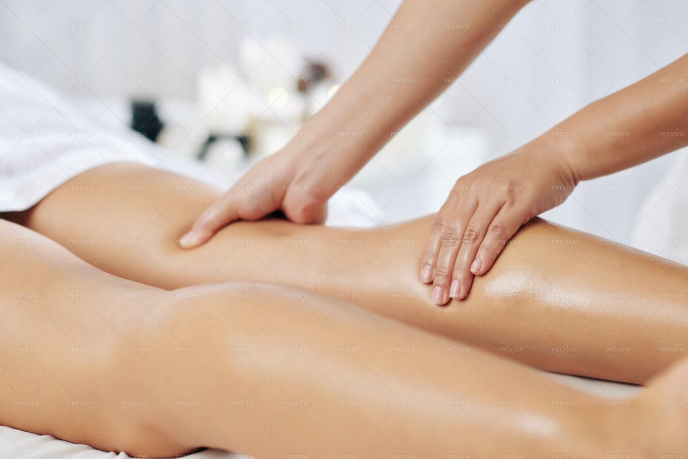 Professional Leg Massage: Stock Photos